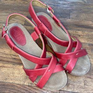 Bussola Red Sandals